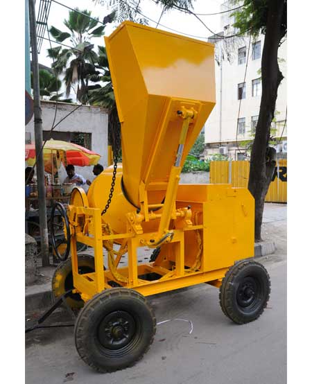Concrete Mixer Machine Capacity with hopper 10 - 7 cft with hopper